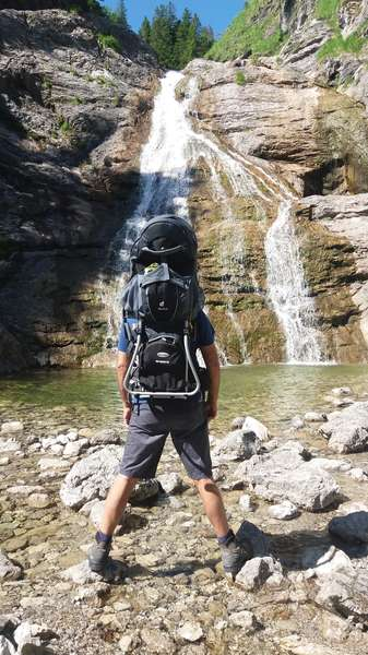am Wasserfall der Lainlalm